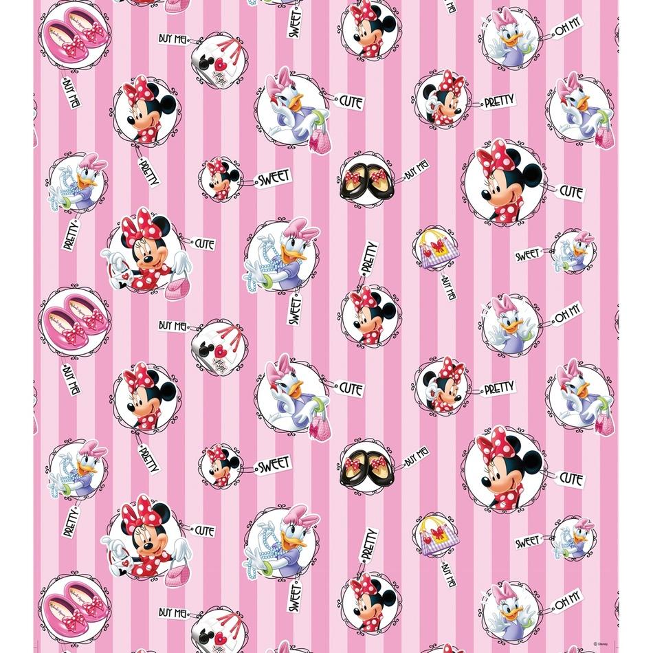 AG Art Dětská fototapeta Minnie Mouse a Daisy, 53 x 1005 cm