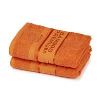 4Home Törölköző Bamboo Premium narancssárga, 50 x 100 cm, 2 db-os szett