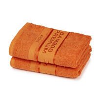 Set 2 prosoape 4Home Bamboo Premium portocaliu, 2x 50 x 100 cm