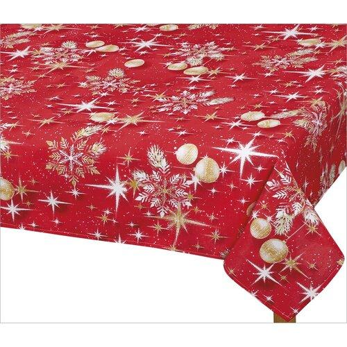 Bellatex Karácsonyi arany gömbös abrosz, 100 x 100 cm