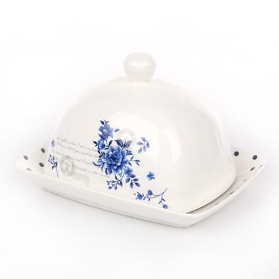 INDIGO ROSE porcelánová máslenka