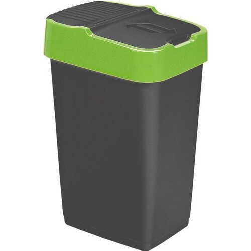 Heidrun Odpadkový kôš 18 l, so zeleným pruhom