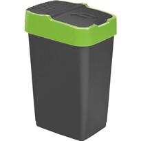Heidrun Odpadkový koš 18 l, se zeleným pruhem