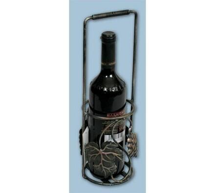 Kovový bar na 1 láhev stojící