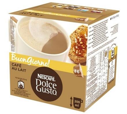 Kapsle Dolce Gusto, Cafe Au Lait, 16 ks, Nescafé
