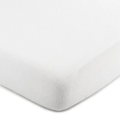4Home froté prestieradlo biela, 100 x 200 cm