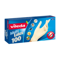 Vileda Jednorázové rukavice Multi Latex vel. S/M, 100 ks