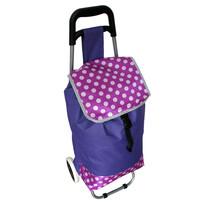 Nákupní taška na kolečkách Puntík, fialová