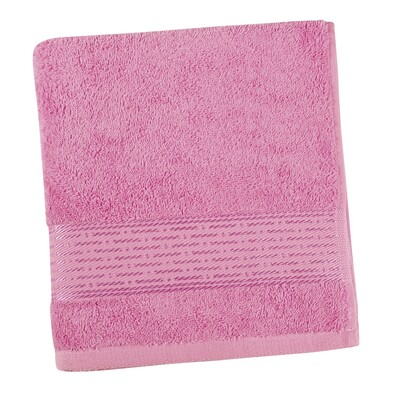 Ręcznik Kamilka Pasek różowy, 50 x 100 cm