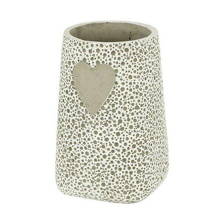 Betónová váza Srdce béžová, 20 cm
