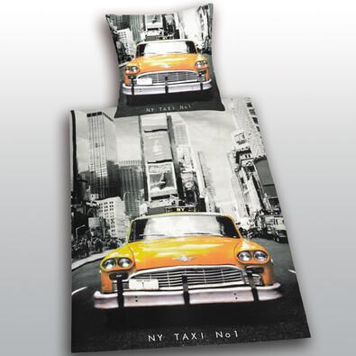 Bavlnené obliečky New York Taxi, 140 x 200 cm, 70 x 90 cm