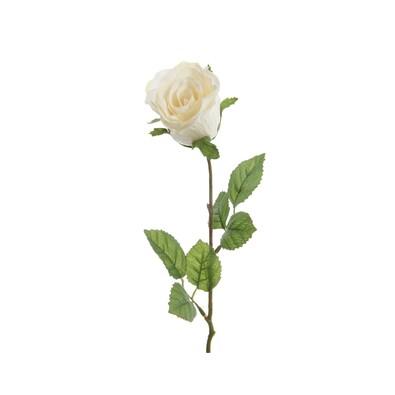 Sztuczny kwiat Róży biały, 45 cm