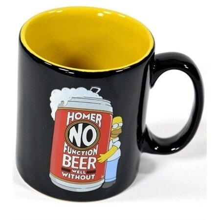 CurePink Keramický hrnek The Simpsons: Homer No Beer černý 0805654 320 m