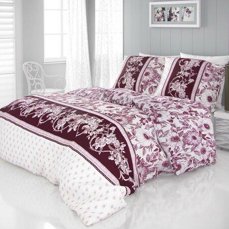 Kvalitex Mocha szatén ágynemű, bordó, 140 x 220 cm, 70 x 90 cm