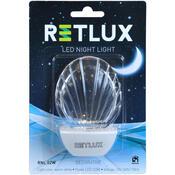 Retlux LED Noční světlo mušle bílá