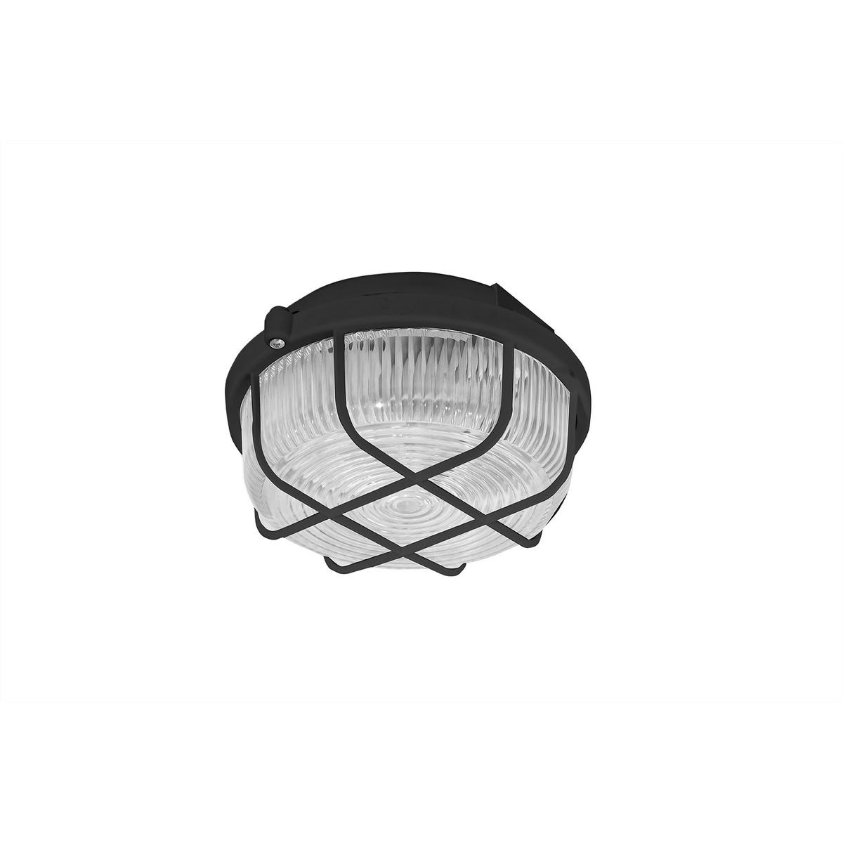 KRUH prisadené stropné a nástenné kruhové svetlo, 100W, čierna, PANLUX