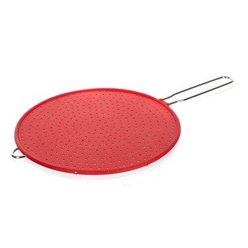 """Červené silikonové ochranné síto na pánve """"CULINARIA"""", BANQUET - průměr 28 cm"""