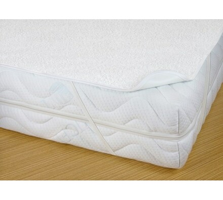 Chránič matrace s PVC zátěrem nepropustný, bílá, 180 x 200 cm