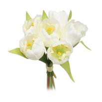 Tulipán művirág köteg, fehér