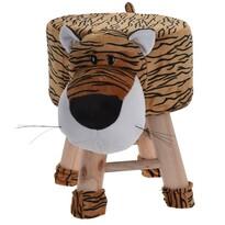 Koopman Detský taburet Tiger, 25 x 45 x 35 cm