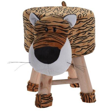 Detský taburet Tiger, 25 x 45 x 35 cm