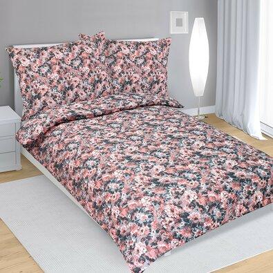 Krepové obliečky Dahlia lososová, 140 x 220 cm, 70 x 90 cm