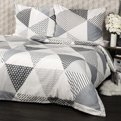 Bavlnené obliečky Triangel sivá, 140 x 200 cm, 70 x 90 cm