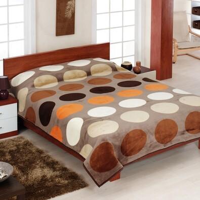 Přehoz na pohovku Amaro hnědá, 160 x 200 cm