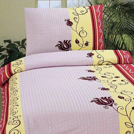 Krepové povlečení Romantic růžová, 140x200, 70x90
