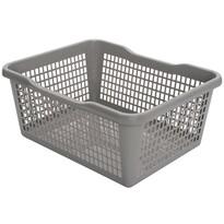 Plastový košík 29,8 x 19,8 x 9,8 cm, sivá