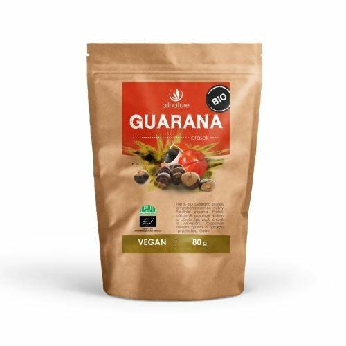 Allnature Bio guarana prášek 80 g