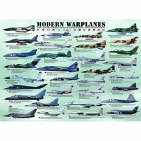 EuroGraphics Puzzle Moderné bojové lietadlá, 1000 dielikov