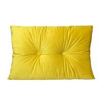 Domarex Vankúš s gombíkmi Serenity Velvet žltá, 40 x 60 cm