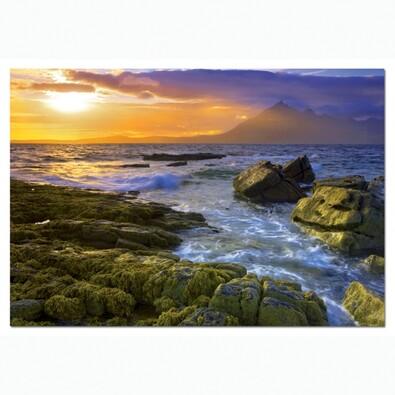 Puzzle Západ slunce na pobřeží 1500 dílků, vícebarevná