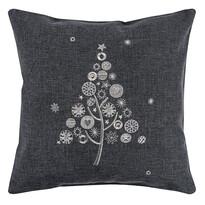 Vianočná obliečka na vankúšik s výšivkou, 40 x 40 cm