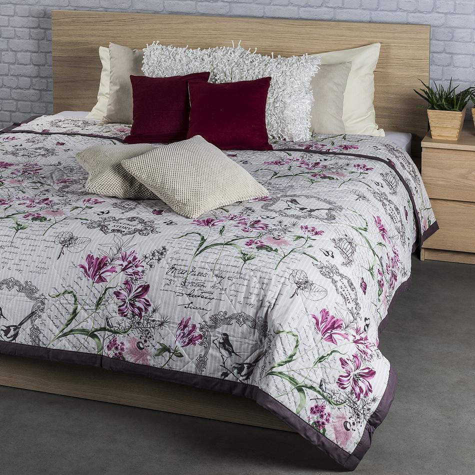 Přehoz na postel Valeria fialová