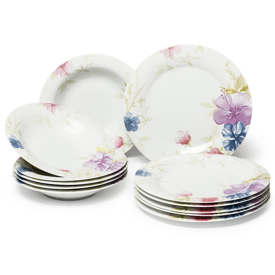 TILIA Jídelní souprava talířů z porcelánu 12dílná, MÄSER