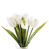 Umělá květina tulipán 9 ks, fialová
