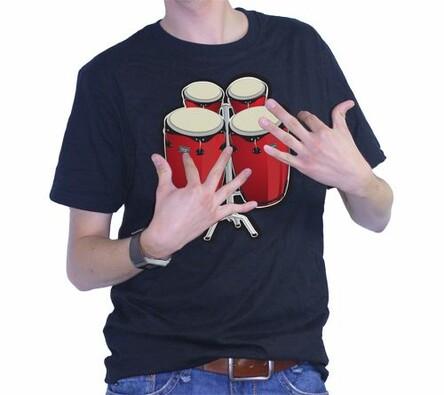 tričko s bubny, L