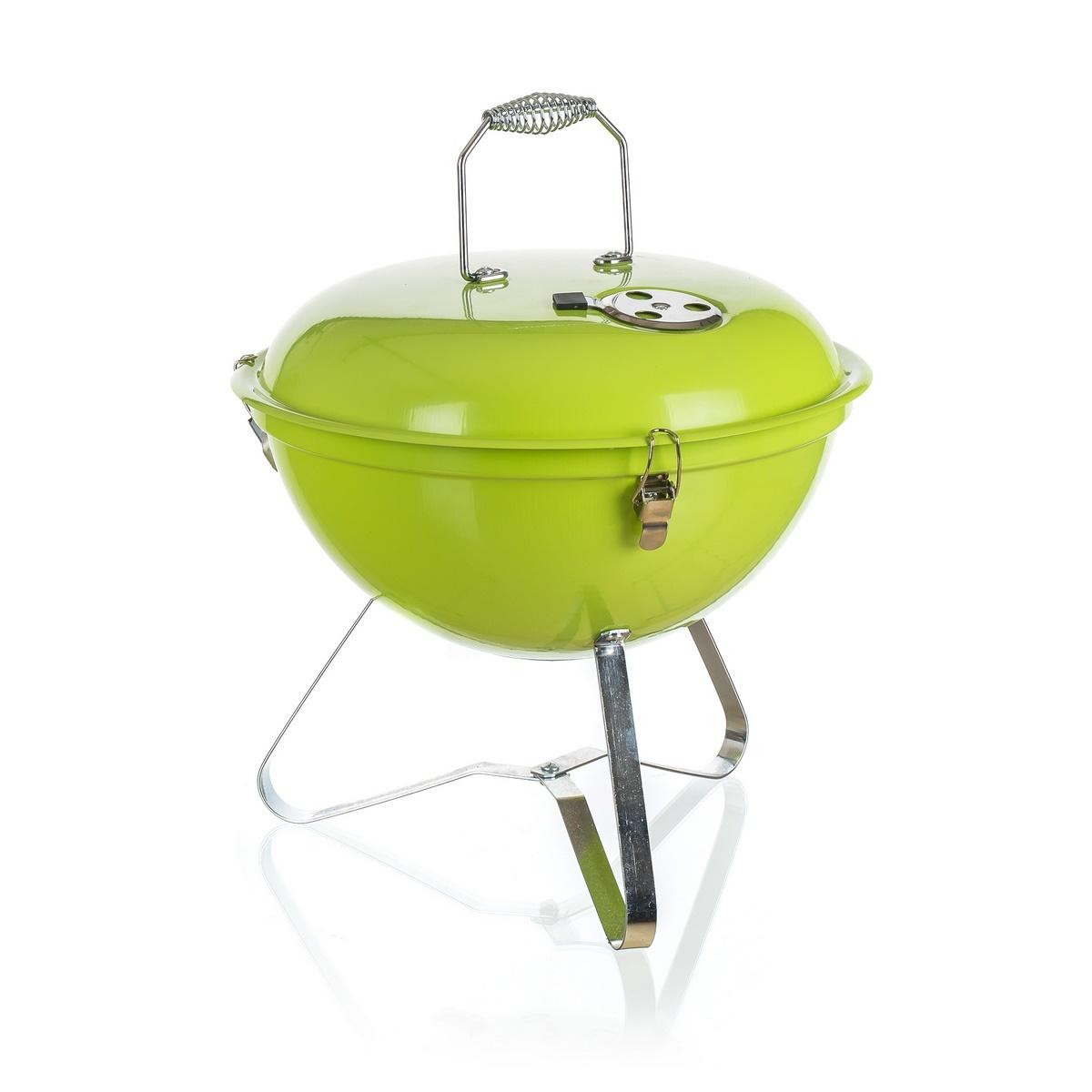 Happy Green PICNIC Zahradní gril zelená, pr. 36 cm