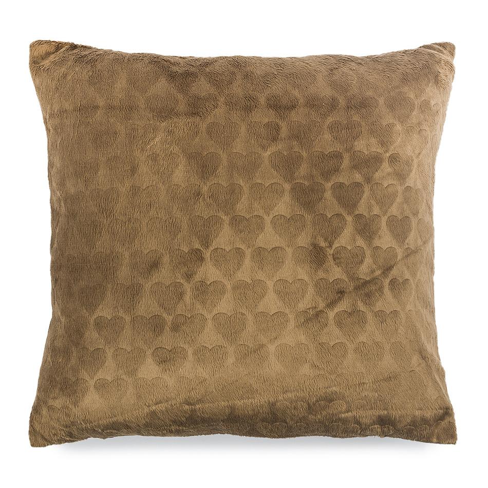 4Home Povlak na polštářek Love Everywhere hnědá, 2x 40 x 40 cm