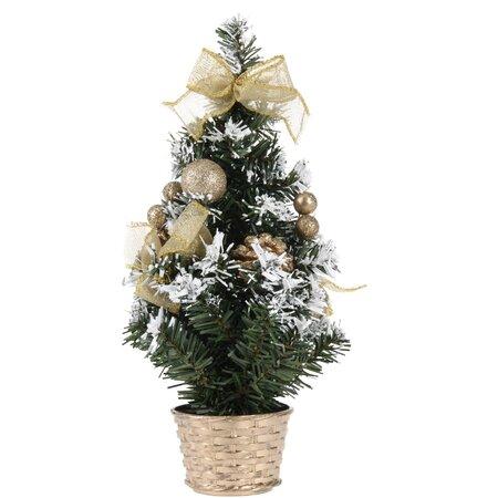 Vánoční dekorovaný stromeček, zlatá