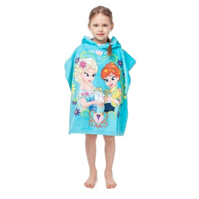 Poncho copii Frozen Regatul de gheață, 60 x 120 cm