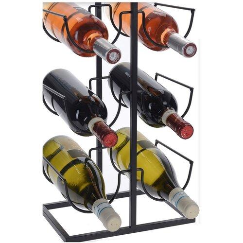Stojan na 6 fliaš vína