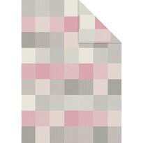Pătură Ibena Pittsburgh roz 1975/580, 140 x 200 cm