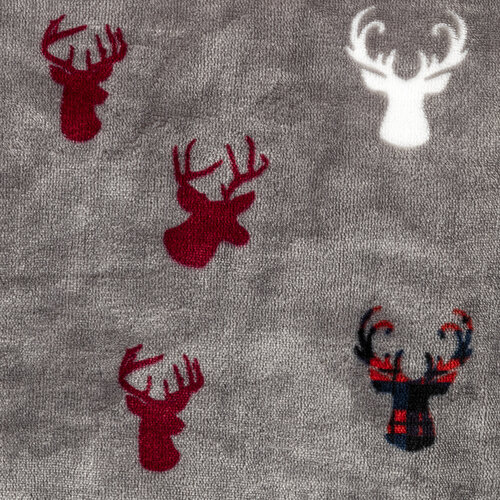 4Home Povlečení mikroflanel Kostka červená, 140 x 220 cm, 70 x 90 cm