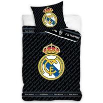 Lenjerie de pat Real Madrid Blue Letters, din bumbac, 140 x 200 cm, 70 x 90 cm