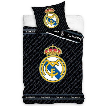 Real Madrid Blue Letters pamut ágynemű, 140 x 200 cm, 70 x 90 cm
