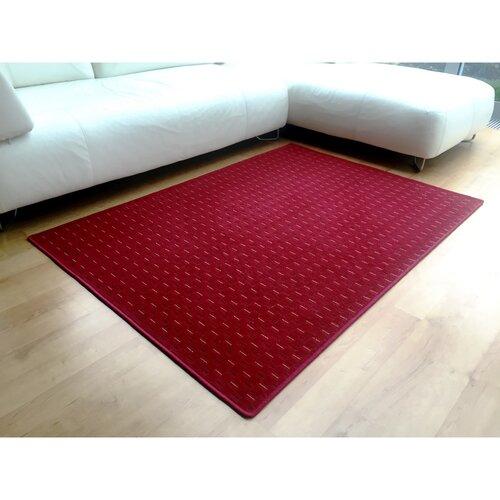 Kusový koberec Valencia červená, 80 x 150 cm