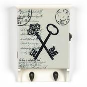 Skříňka na klíče s 2 věšáky